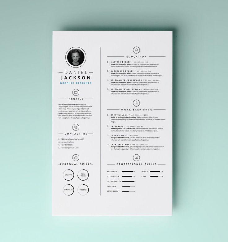 Simple Resume Template vol4 | Resumes Templates | Pixeden
