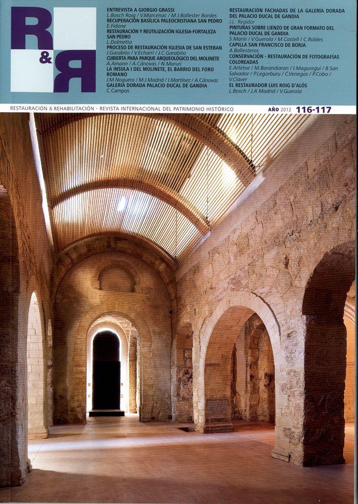 Restauración & rehabilitación = ISSN 1134-4571. Fondos UPM: http://marte.biblioteca.upm.es/uhtbin/cgisirsi/x/y/0/05?searchdata1=1134-4571{022} Dialnet: http://dialnet.unirioja.es/servlet/revista?codigo=1112 Web revista: http://revistaryr.com/