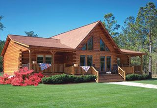 Log cabin home...but, half the size is ideal for us.
