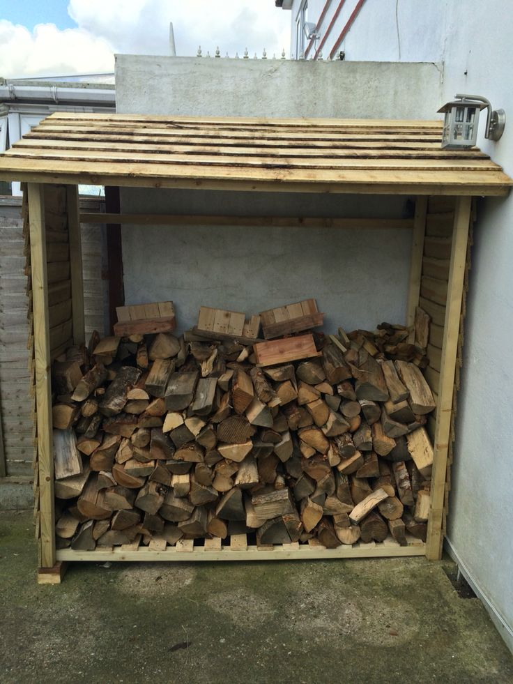 Wood store from B&Q with a few modifications from dad!