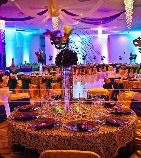 Mardi Gras Wedding Ideas: 1920's WEDDING THEMED RECEPTION TABLESCAPES
