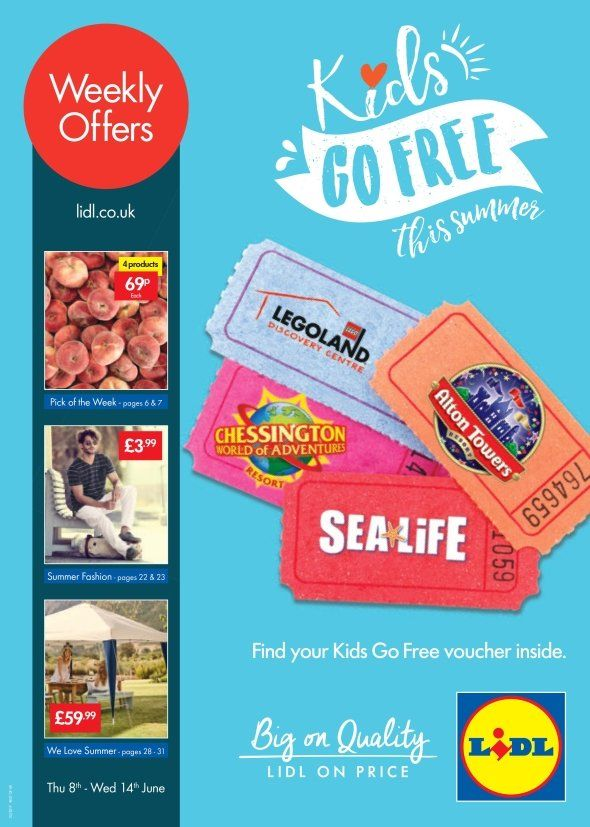 Lidl Offers Leaflet 8th 14th June 2017 Weekly Offers Online Kids Go Free Lidl Leaflet