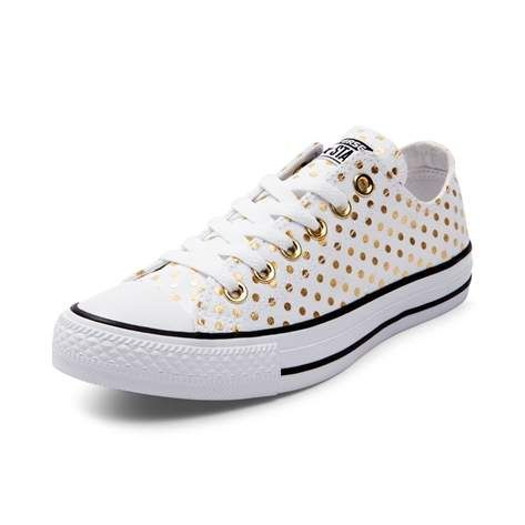 Keep your look on point with the awesome new Chuck Taylor All Star Lo Dots  Sneaker from Converse! These crazy-cool Chucks rock a low-top design  constructed ...