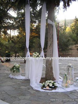 myrovolos : στολισμος γάμου άγιος Χριστόφορος ΔΑΦΝΙ