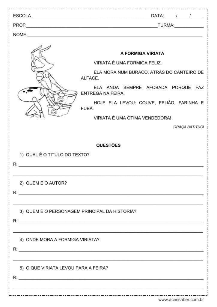 Pin Em Atividades L Portuguesa