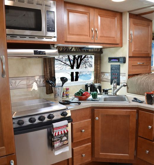 2014 Arctic Fox campers have stainless steel appliances