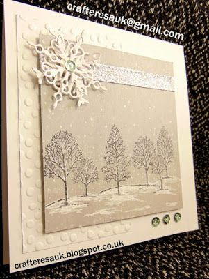 WHITE CHRISTMAS ~ LOVELY AS A TREE     I have just finished creating my sample cards for my next card making class   we will be using the f...