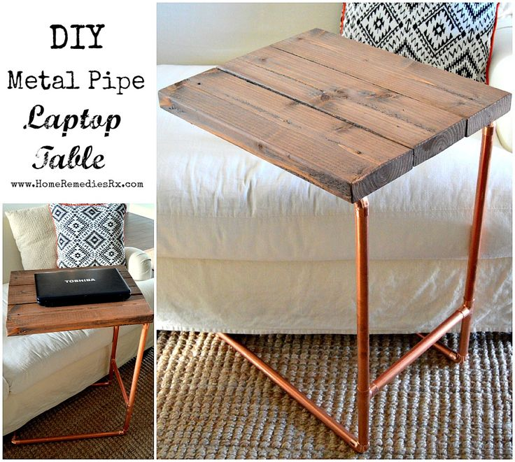 Metal Pipe Laptop Table {The Home Depot Gift Challenge} - Home Remedies RX