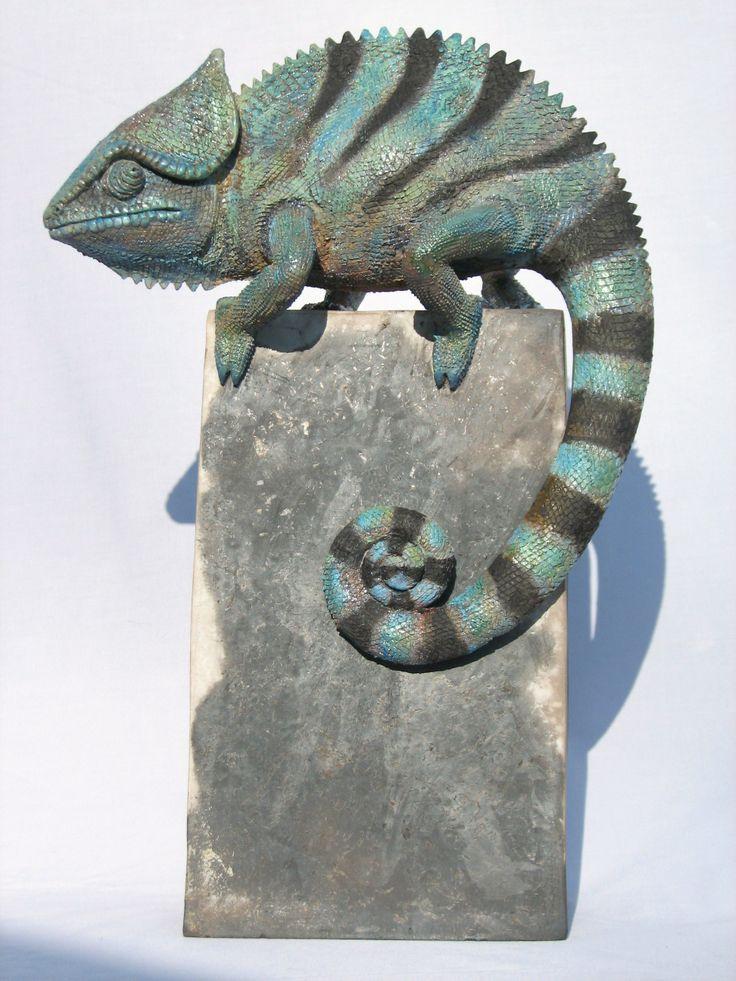 Chameleon Raku fired ceramic by Martim Santa Rita