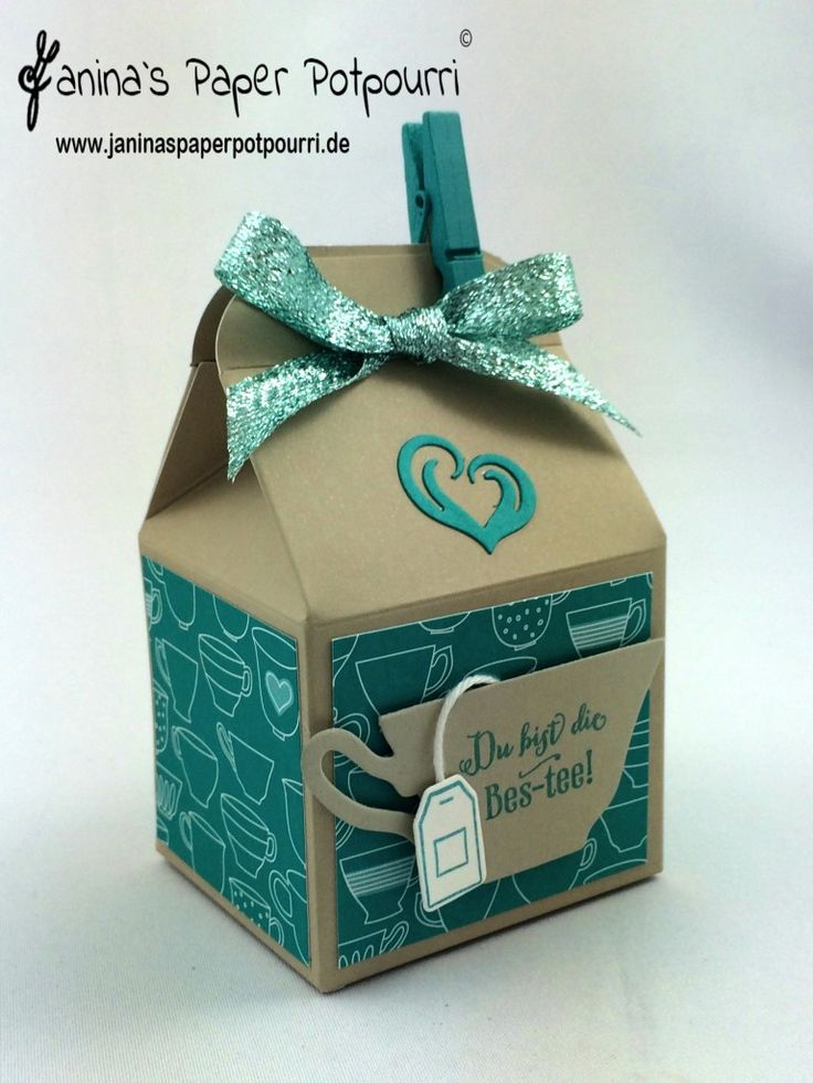 jpp - Teaparty Goodie / treat box / Verpackung / Stampin' Up! Berlin / Vollkommene Momente / Thinlits Teestunde / DSP Noch ein Tässchen / A nice cuppa / Have a cuppa / Thinlits Cup & Kettle / #GDP021 www.janinasperpotpourri.de