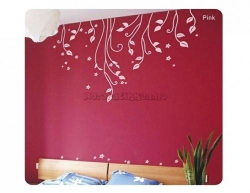 Wallstickers-Veggdekor-Blomster-Hengeblomster3