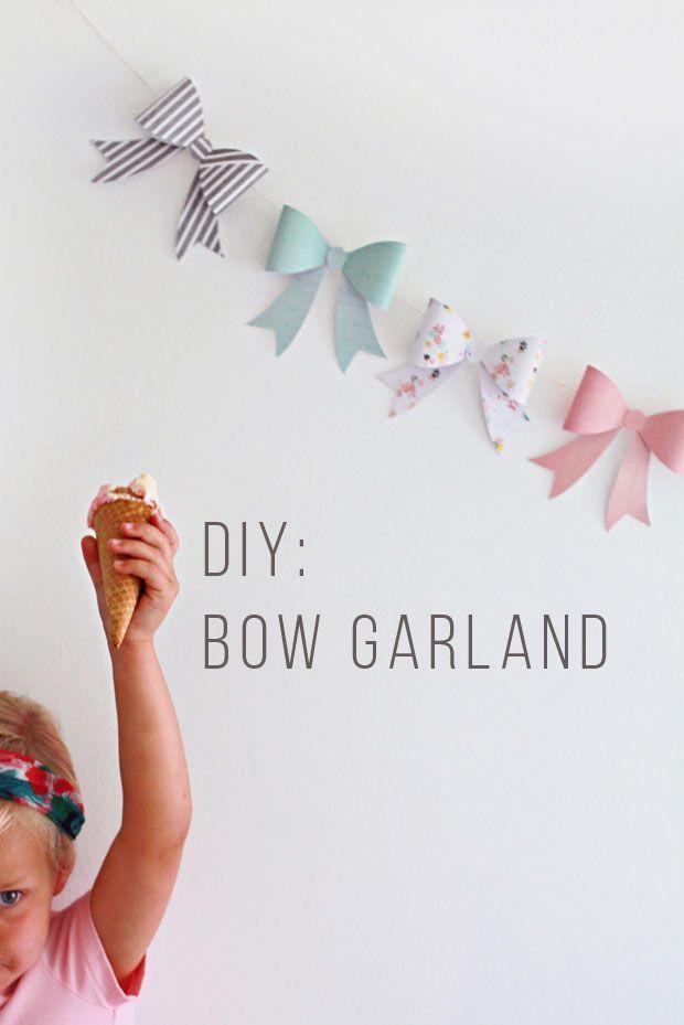 diy bow garland #garland #diy #partydecor