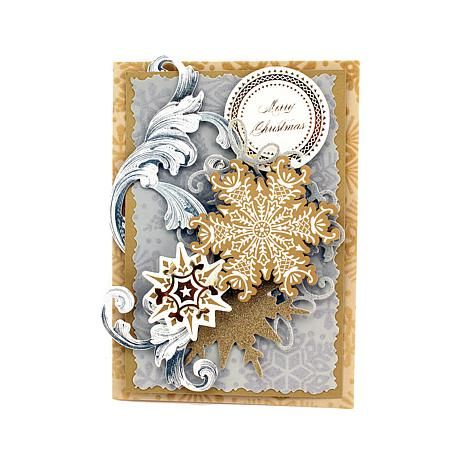 Anna Griffin® Holiday Flocked Card Layers