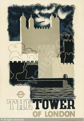 The Tower of London - Edward McKnight Kauffer 1943