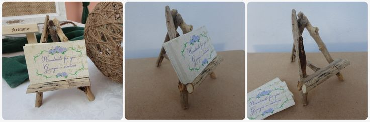 Driftwood card holder