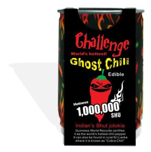 Ghost chili pepper - The hottest pepper in the world!!! 1,000,000 Heat Laval 2006 Guinness book of world records chili pepper. The hottest pepper in the world. Now you can grow your own Ghost Chili. Comes in a recyclable container. Includes easy to follow instructions.  #Magic_Plant #Grocery