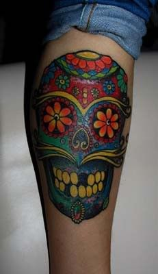2013 halloween skull tattoo for girls   #skull  #tattoo  #girls  #halloween www.loveitsomuch.com