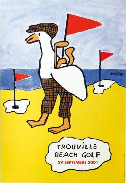Trouville Beach Golf - 2001 - illustration de Raymond Savignac -