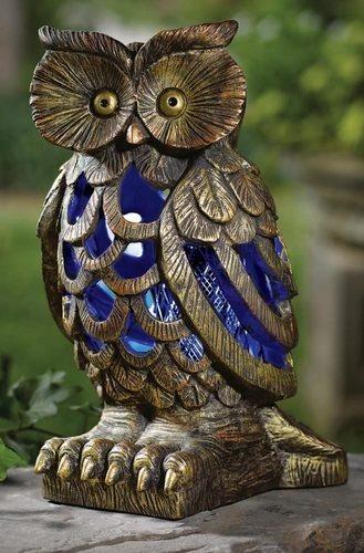 Solar Owl Bug and Mosquito Zapper Garden Statue Outdoor Yard Decor | eBay