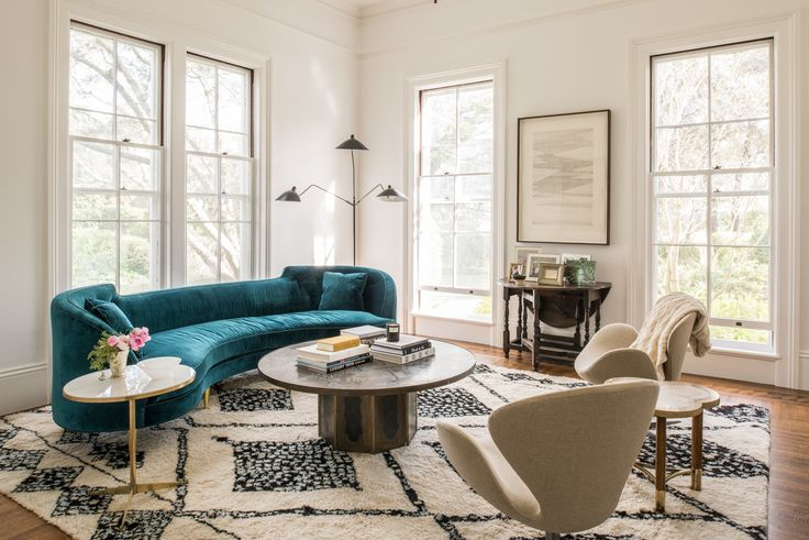 Cottage Living Room in St. Helena, CA by Katie Martinez Design