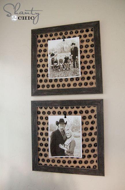 Crafts, Photo Frames, Fabric Crafts, Craft Ideas, Wall, Bedroom Ideas