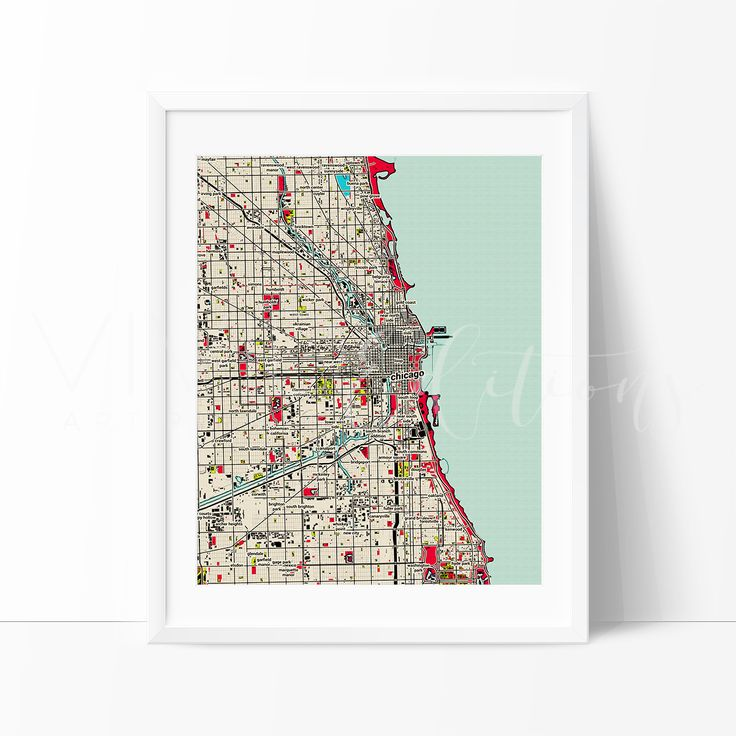 Chicago City Map Art 7 best CITY