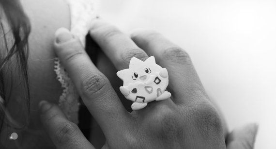 Hey, I found this really awesome Etsy listing at https://www.etsy.com/listing/232213126/polymer-clayfimo-togepi-pokemon-ring