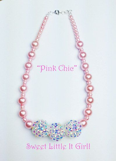 Children's Jewelry! Pink Chic by Sweet Little IT Girl by HouseOfLaRen on Etsy, $18.00