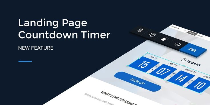 A landing page countdown timer creates urgency helping you generate more leads, signups, and sales. Learn how to add the Instapage new countdown timer here!