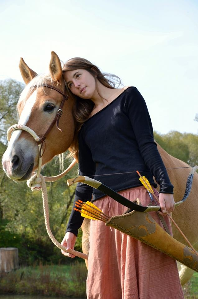 Made me think of my sweet Taylor... she loves horses and her bow and arrows :)