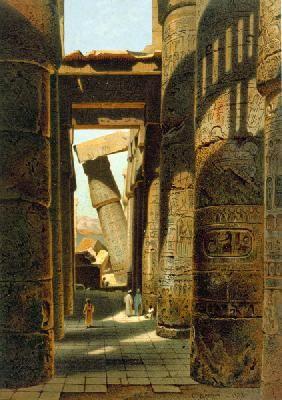 Carl Werner - Karnak , Temple Ruins