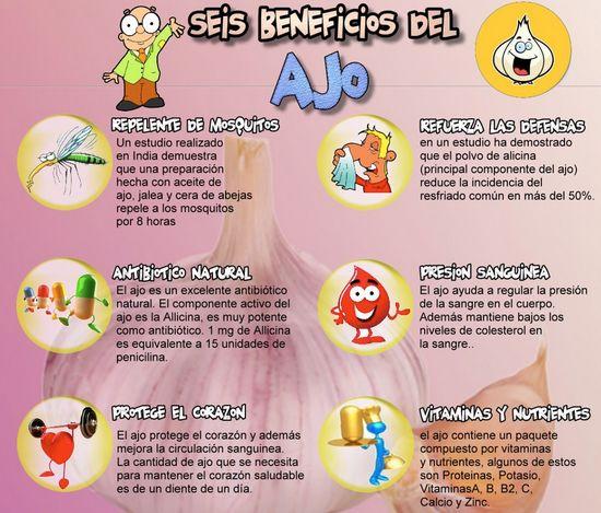 6 beneficios del ajo #salud #saludable #vida