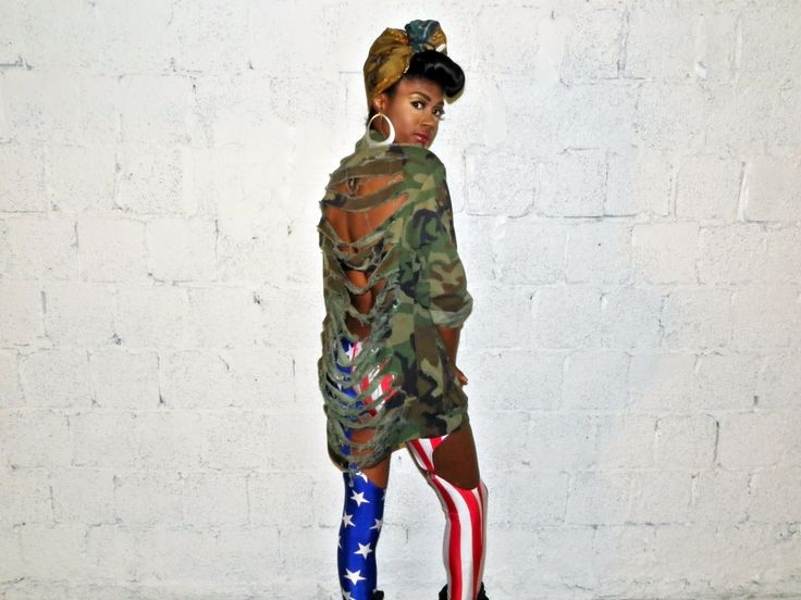 DESIGNER Army FatiguE for Women | Army Fatigue Jacket Shredded Back, Outerwear, camo jacket army fatigue ...