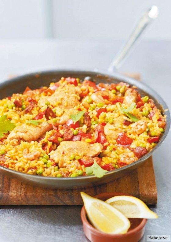 Paella mit Huhn
