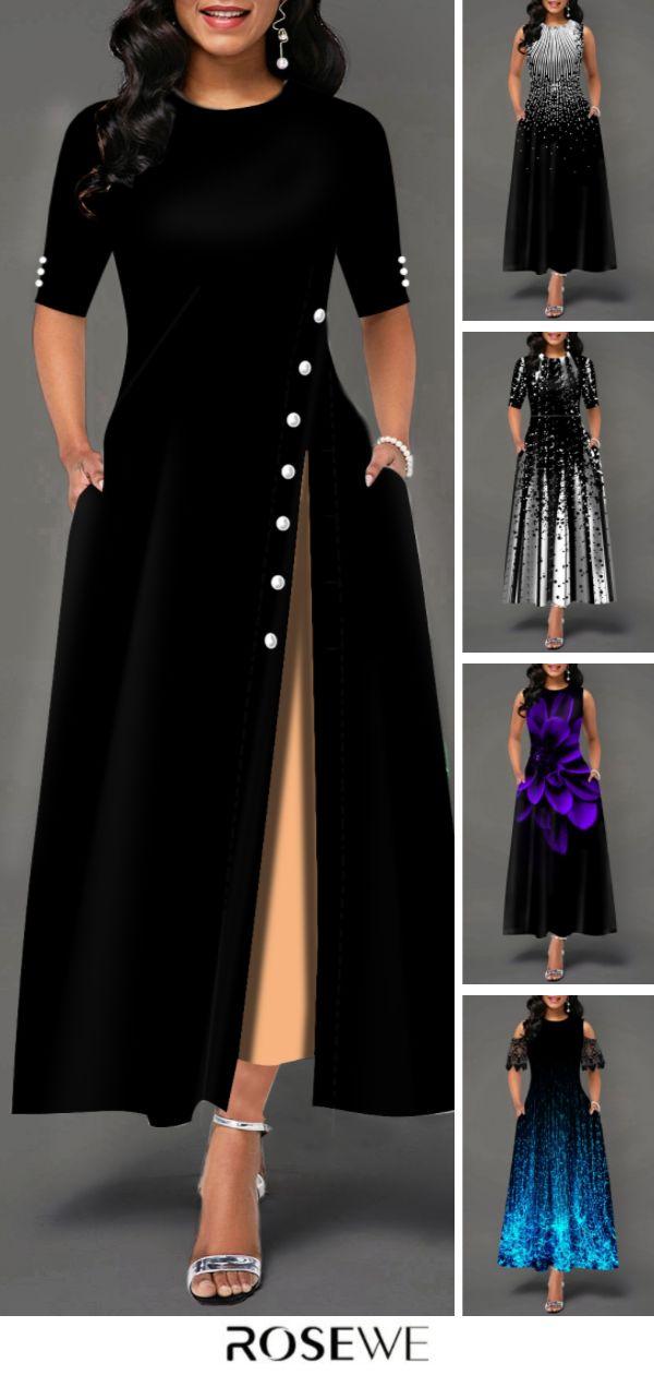 Fashion Cute Women Black Dress