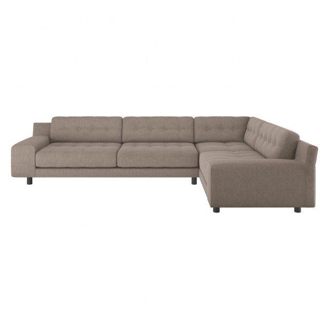 HENDRICKS Natural  fabric left arm corner sofa