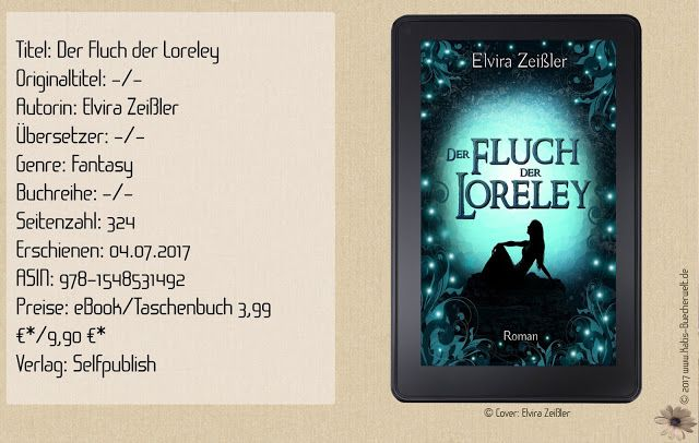 """""""Der Fluch der Loreley"""" ist ein solider Jugendroman mit mystischem Hintergrund und Fantasyanteil. Eine nette Geschichte für zwischendurch aus der viel mehr herausgeholt hätte werden können. ~ fehlender Spannungsbogen ~ Highschoolfeeling ~ klischeehaft & vorhersehbar"""
