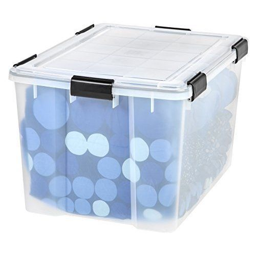 large plastic storage containers home organizer box basket tote with lid clear