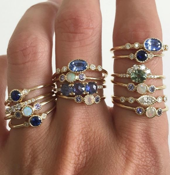 17 Ring Designers to Follow On Instagram   Rather than distracting from the gemstones, Jennie Kwon's approach to engagement rings emphasizes simple details to let the gemstones steal the show for every type of ring setting.