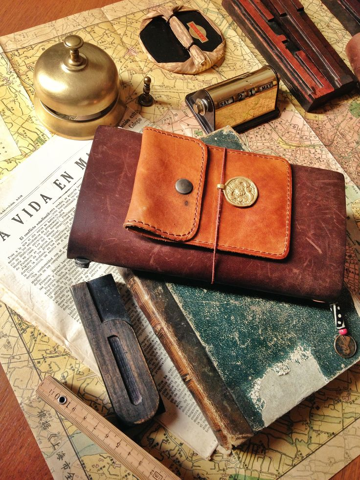 Midori idea = add leather pouches to journals