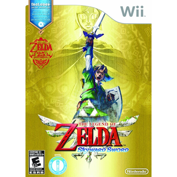 The Legend of Zelda: Skyward Sword (with Music CD) /// For Wii, but compatible with Wii U. /// $44.99