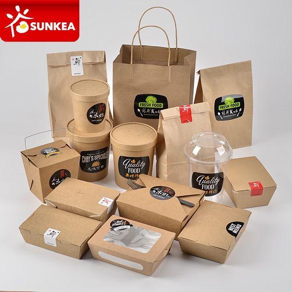 Download Disposable Custom Logo Printed Paper Chinese Hot Food Box Kemasan Produk Ide Kemasan Desain Kemasan