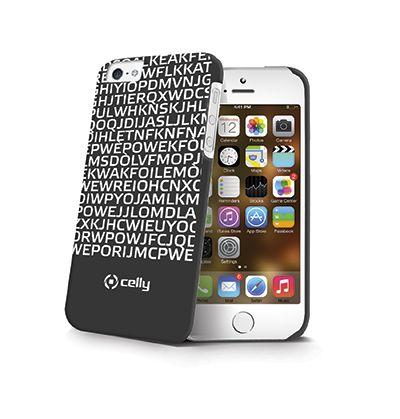 Cover per #iPhone 5 e 5s a sfondo nero con scritte bianche: messaggio nascosto #ILOVEYOU fluorescente, ideale per chi vuole lasciare un segno indelebile nel cuore della dolce metà.