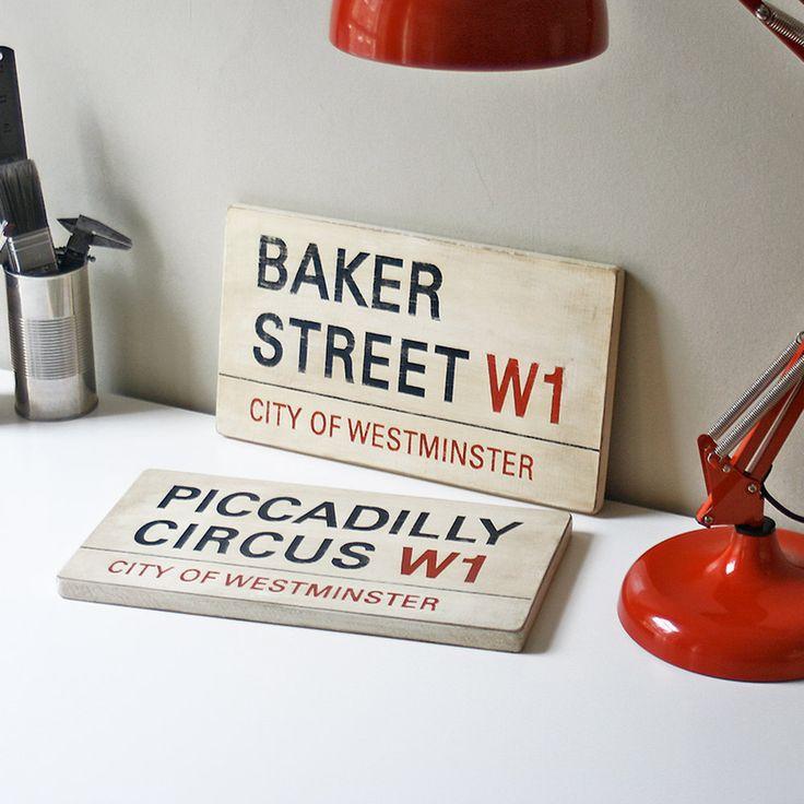 Custom London Street Signs Your Choice Of Street Postcode And Borough. £45.00, via Etsy.