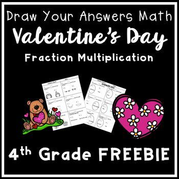 This FREE Valentine's fraction math worksheet is ideal for 4th grade. Students multiply fractions with whole numbers, and their answers guide them through a Valentine's Day drawing. This worksheet comes with an answer key and a teacher's guide for ideas!