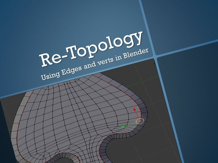 Retopology with  edges and verts in blender