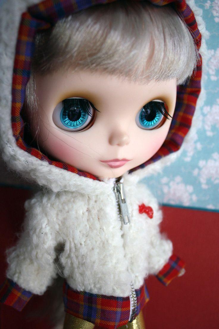Blythe doll Vintage Cute Tartan Zip Hoodie by cmondolly on Etsy