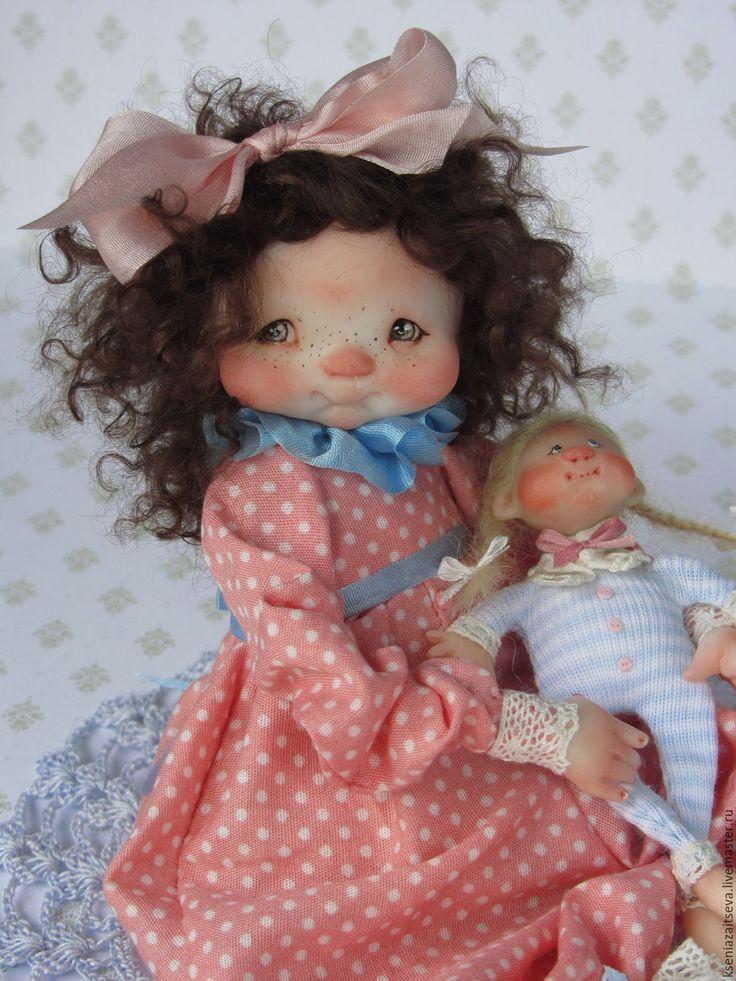 """Купить """"Милли"""" - розовый, коллекционная кукла, авторская кукла, куклы ксении зайцевой, девочка, малышка"""
