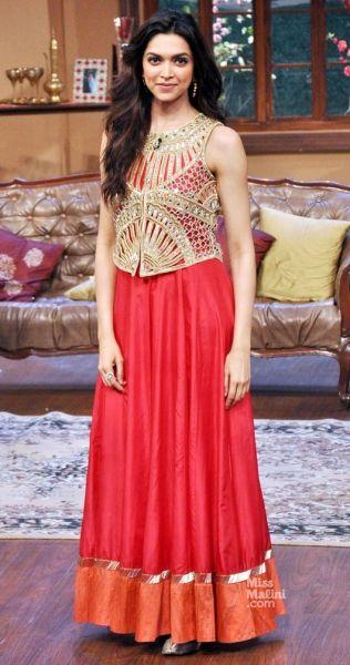 Deepika Padukone in Arpita Mehta wore it to colours comedy nights with kapil