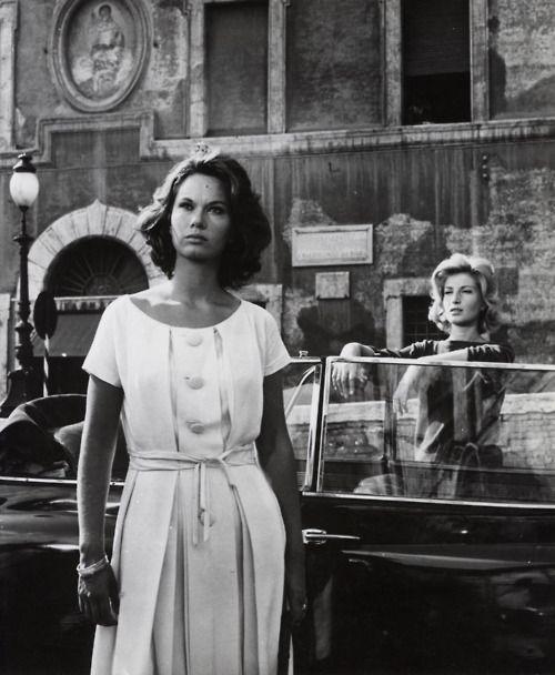 Lea Massari & Monica Vitti in Michelangelo Antonioni's L'Avventura (1960).